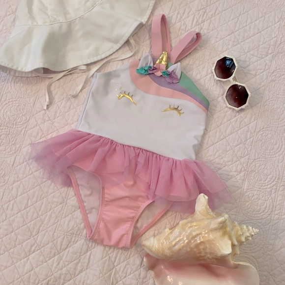 Cat & Jack Magical Unicorn Tutu Swimsuit